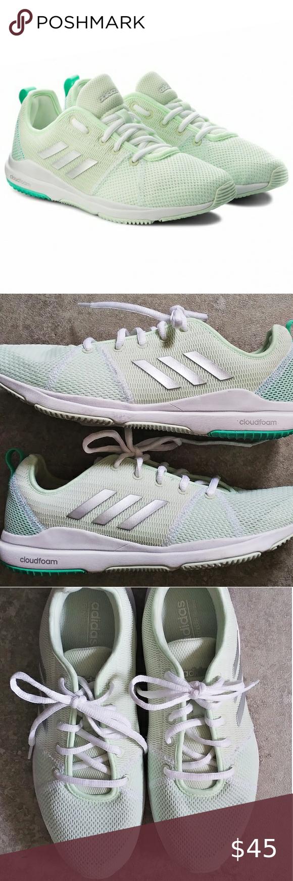NEW Adidas Arianna Cloudfoam Lime Green Running…   Clothes design ...