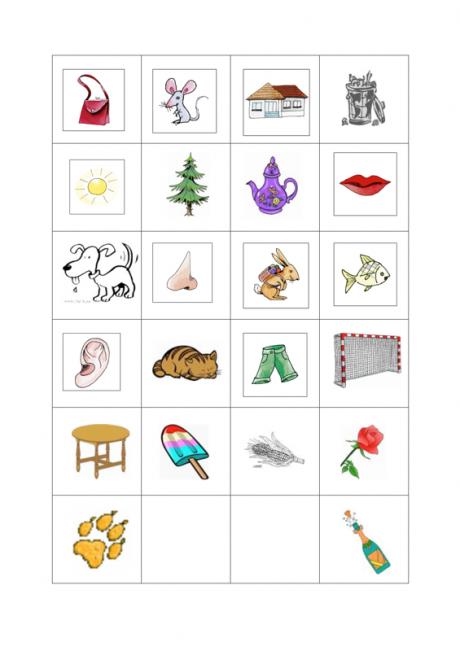 Bilder-Memory Reimwörter - Dyslalie, SES | paveiksleliai | Pinterest ...