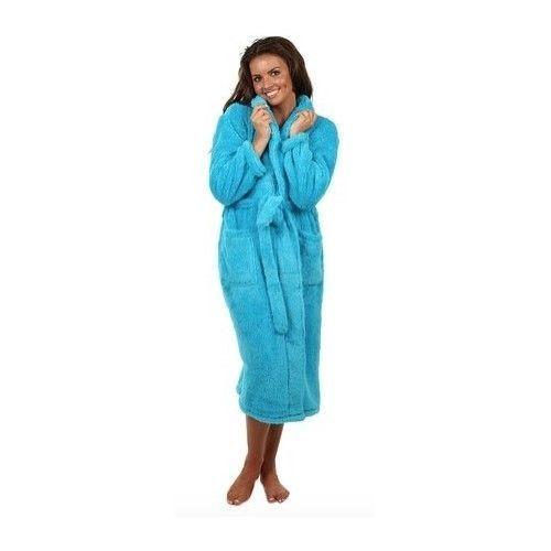 40e366c518 WOMENS BLUE FLEECE ROBE SMALL SPA BATHROBE SOFT ULTRA PLUSH MICROFIBER NEW  S  Veami  Robes