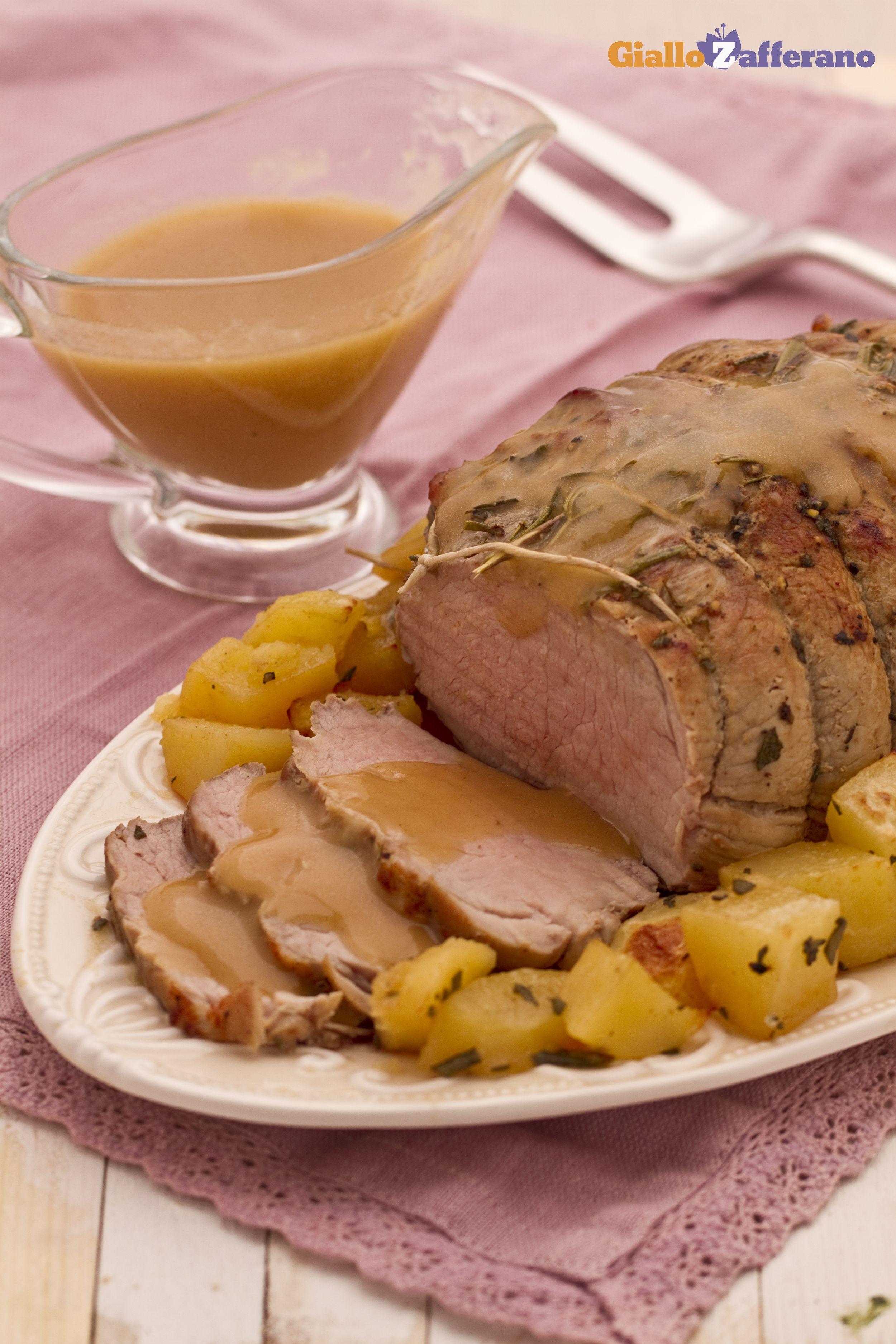 Arrosto di vitello al forno con patate -  Roast veal with potatoes