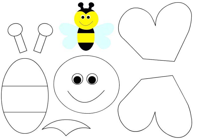 Arı Kes Yapıştır Etkinlik Pinterest