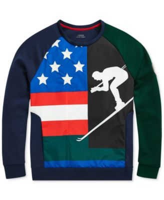 9b52148f5 Polo Ralph Lauren Men s Downhill Skier Double-Knit Sweatshirt - Newport Navy hunt  Club Green XL