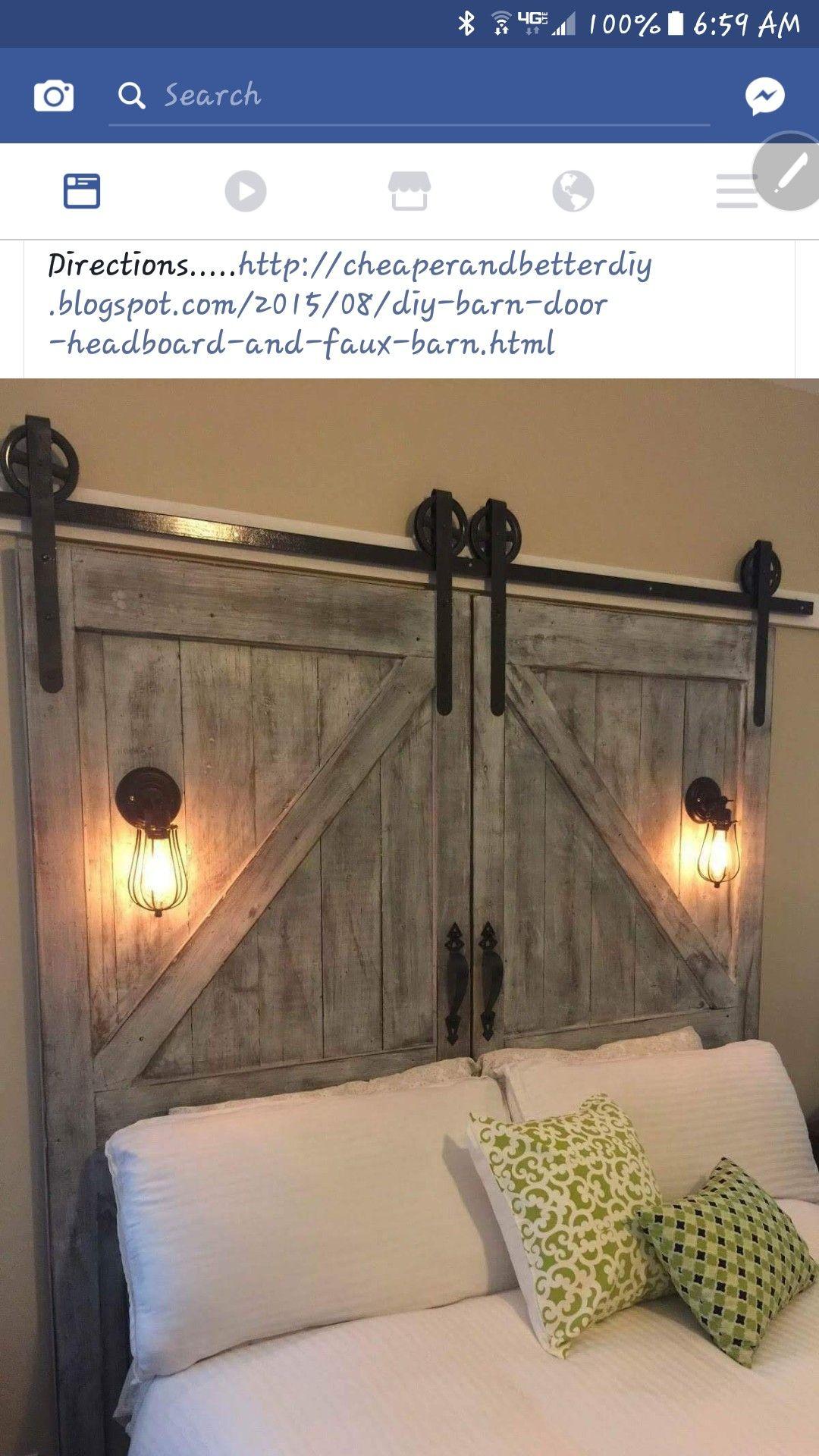 Tete De Lit Porte De Grange diy barndoor headboard | deco tete de lit, maison rustique