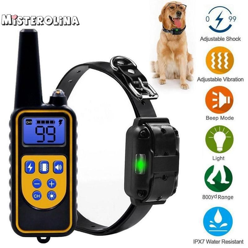 800m Electric Dog Training Collar Pet Remote Control Waterproof