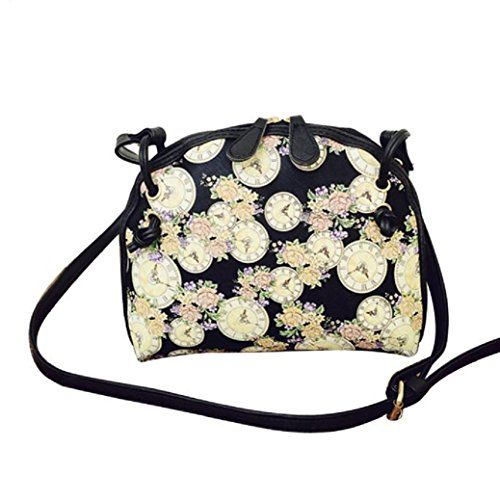 TIFENNY Women Printing Shoulder Bag Leather Purse Messenger Bag -- To view further, visit