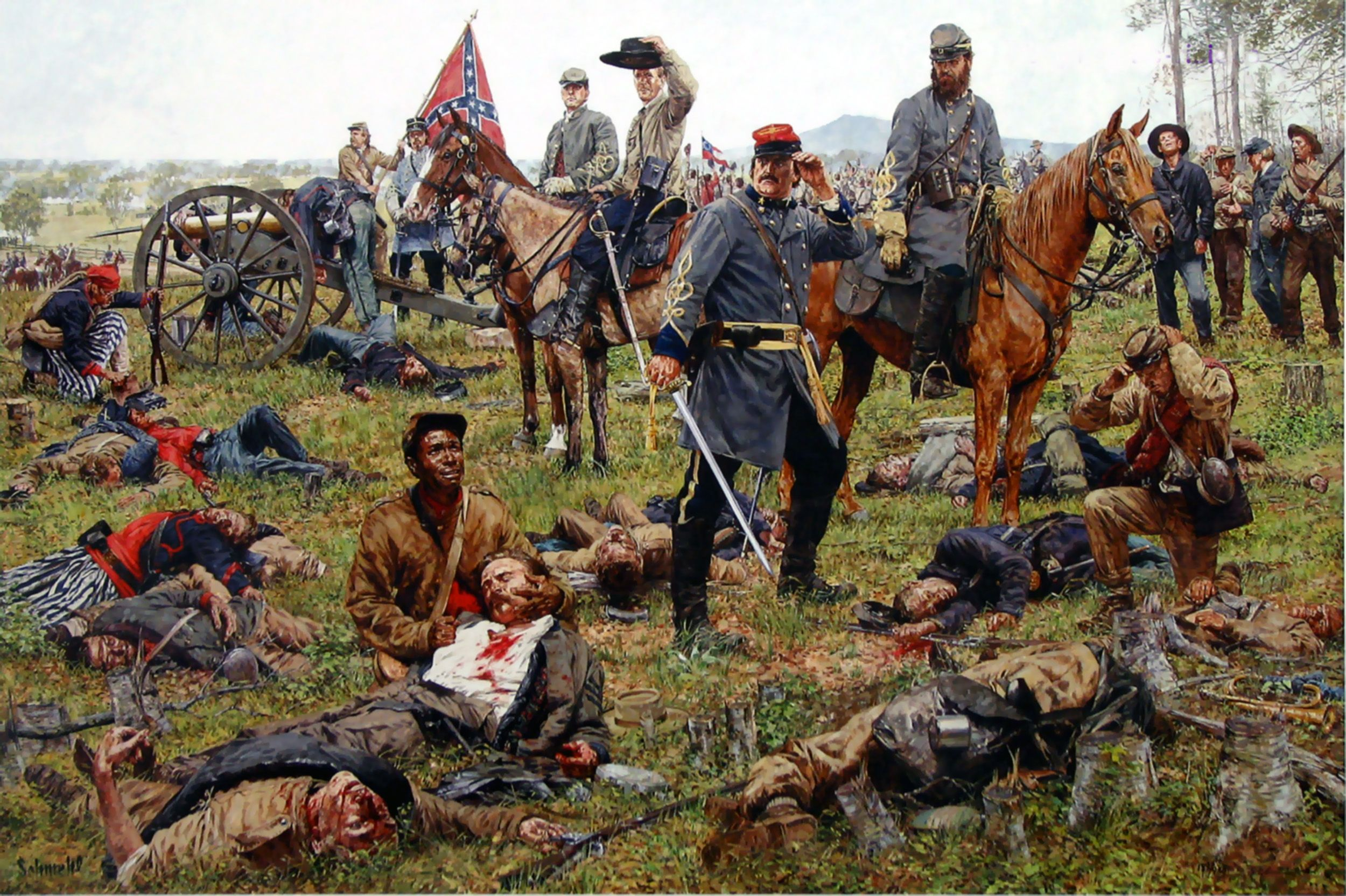 the battle of the confederate army The confederate army was created out of the south's commitment to white supremacy, as the atlantic's ta-nehisi coates has exhaustively documented but the flag that came to represent that army.
