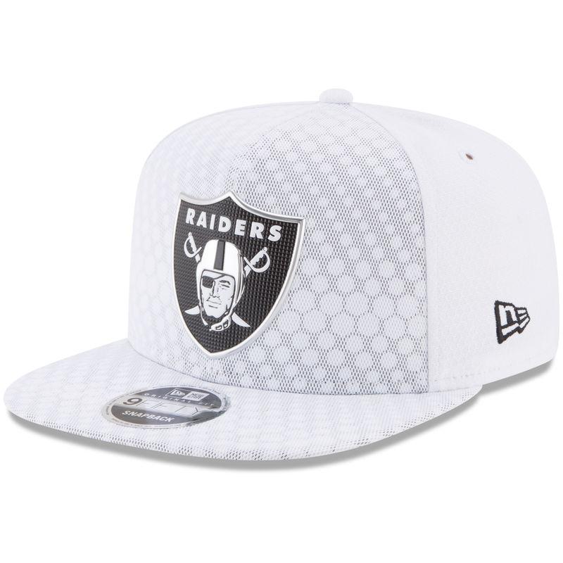 Oakland Raiders New Era 2017 Color Rush 9FIFTY Snapback Adjustable Hat –  White 24b8ec09a4c6
