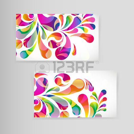 Sample business card with bright teardrop shaped arches drop illustration of sample business card with bright teardrop shaped arches vector art clipart and stock vectors reheart Images