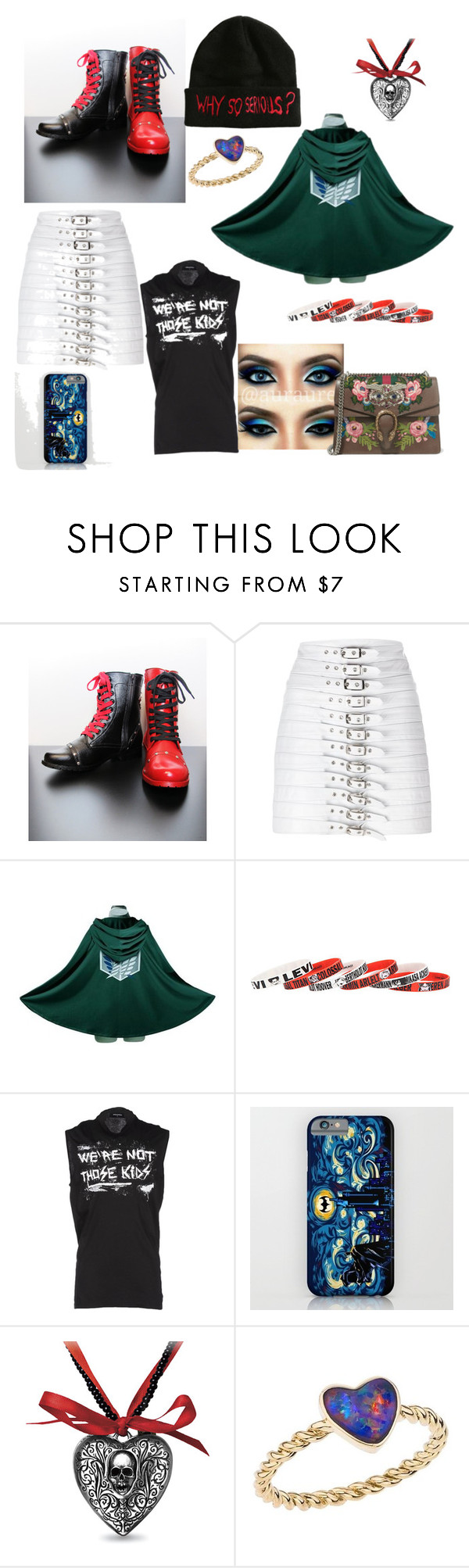 """""""Best Effing Thing I'll Ever Wear"""" by lunamaize ❤ liked on Polyvore featuring Manokhi, Dsquared2, Katherine Jetter and Gucci"""