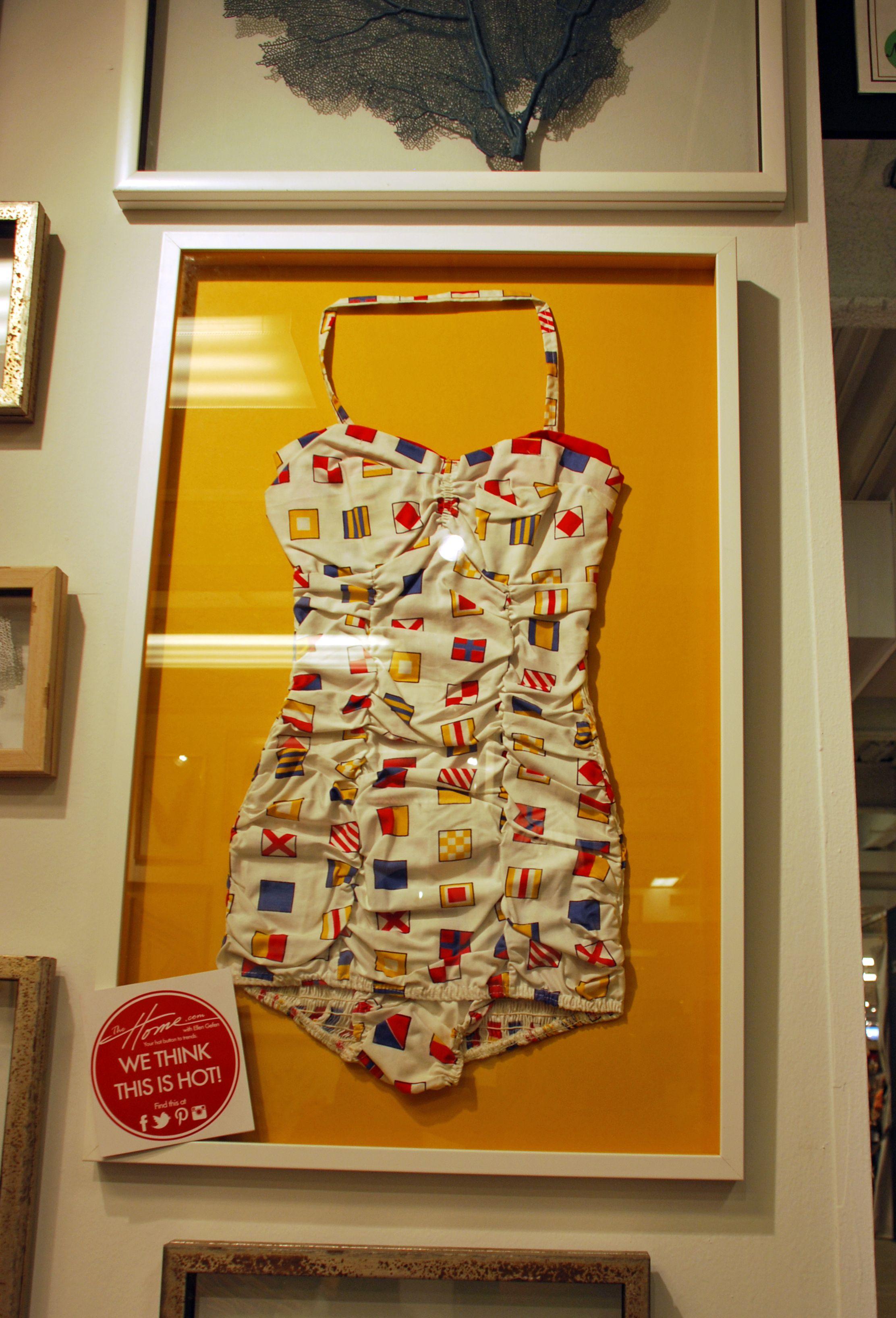 Oceanna Art had a very retro bathing suit as a piece of wall art ...