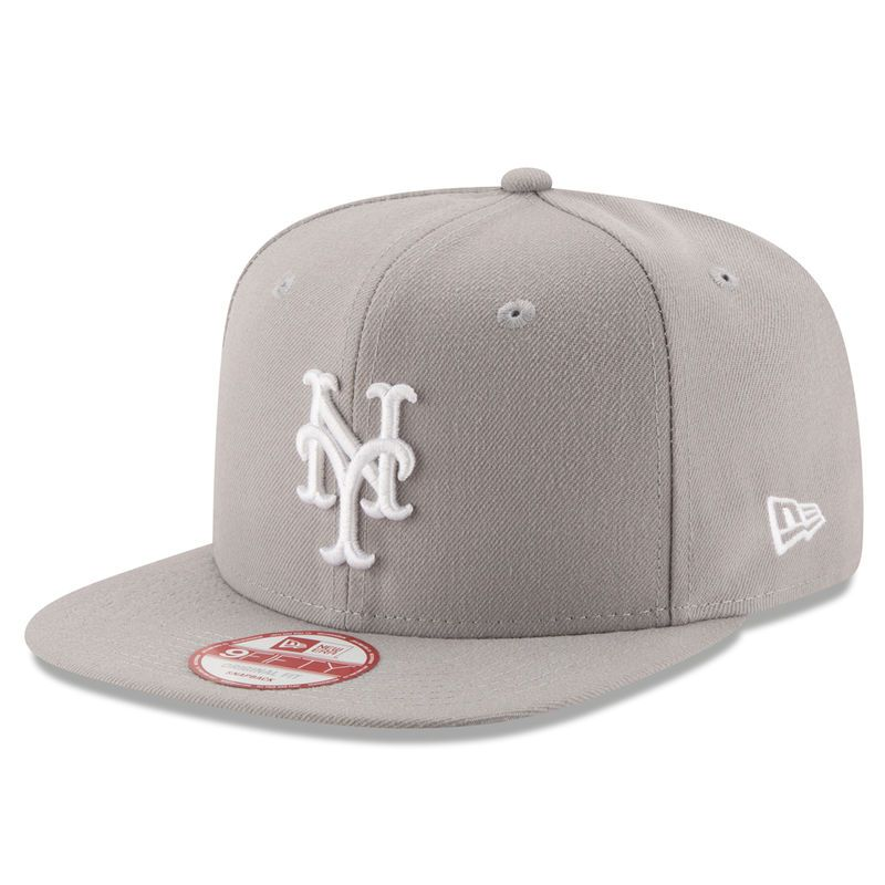 dc331a89999 New York Mets New Era Team Refresher 9FIFTY Snapback Adjustable Hat - Gray