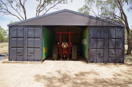 Our shipping container shed finished using 2 twenty foot containers