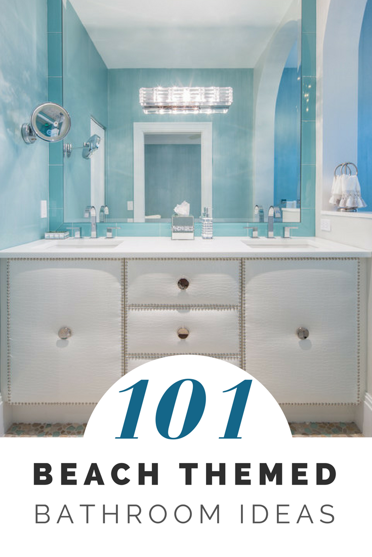 101 Beach Themed Bathroom Ideas Beachfront Decor Beach Theme Bathroom Coastal Bathroom Design Beach Bathroom Decor