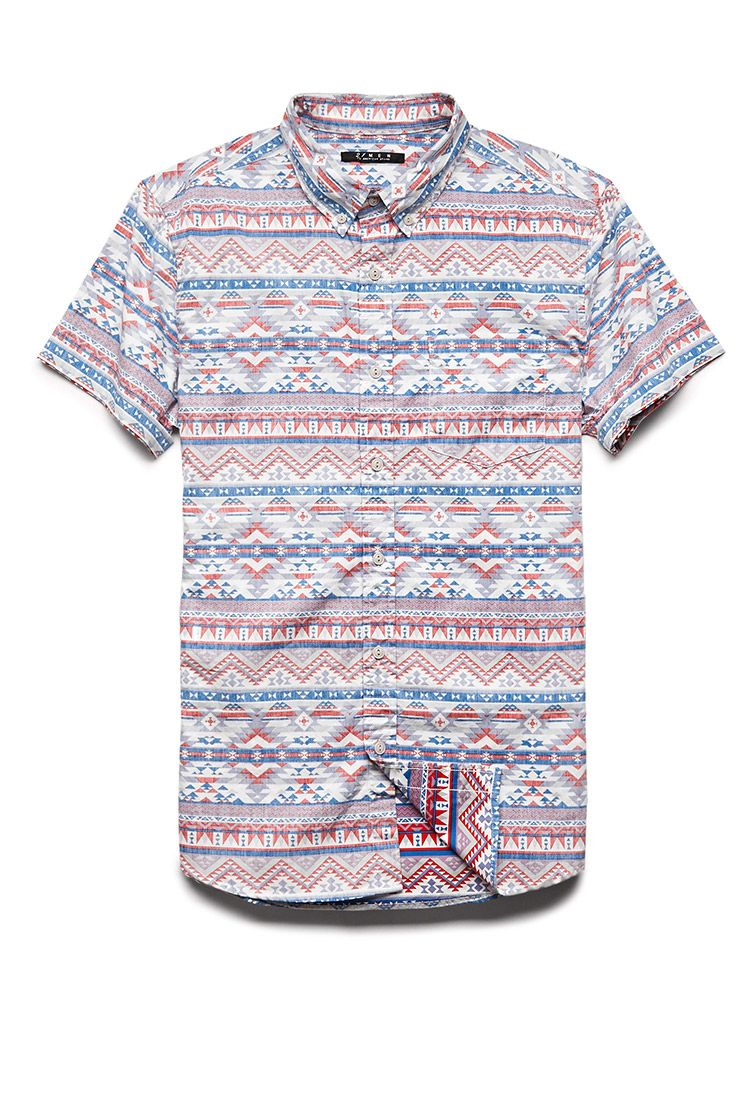 8ec1211341fa Reverse Tribal Print Shirt | 21 MEN #21Men | fashion | Tribal shirt ...