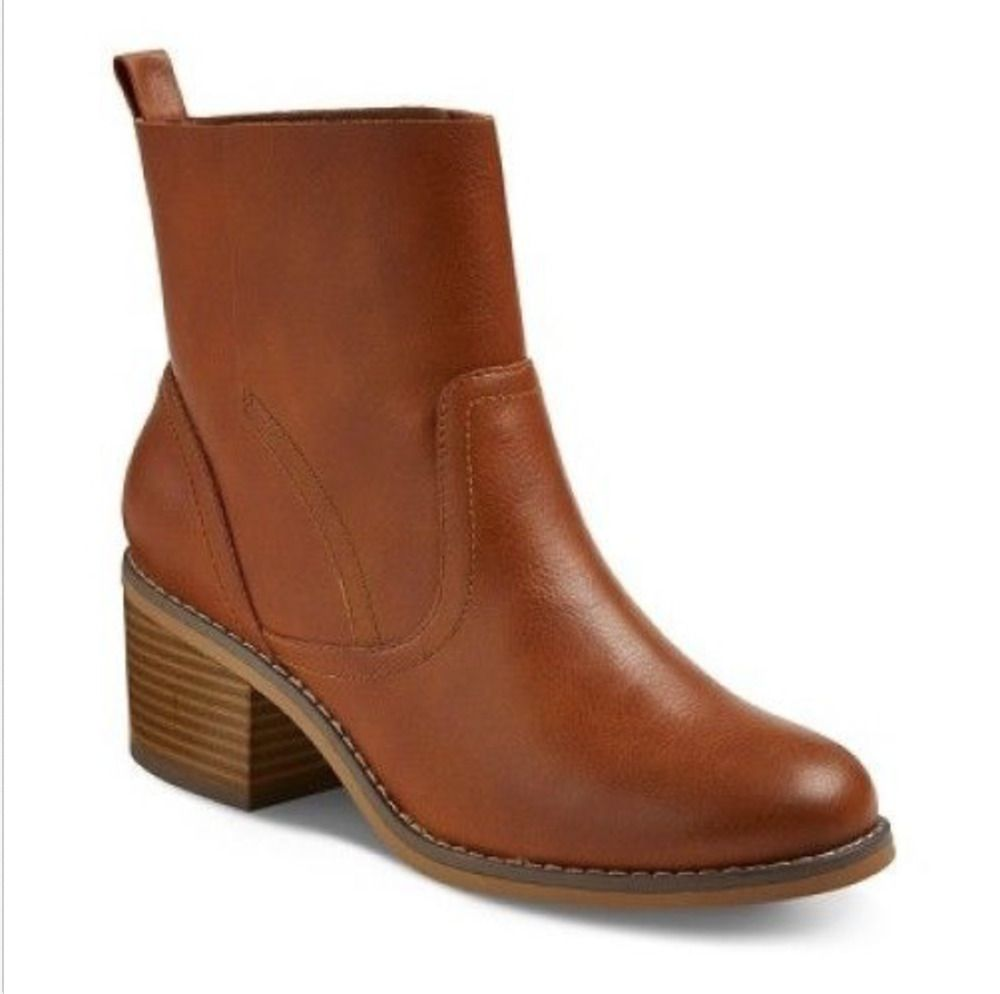 83133246ffc01 Mossimo Size 9.5 Janna Booties Split Ankle Boots Cognac Brown NWOT #Mossimo  #AnkleBoots