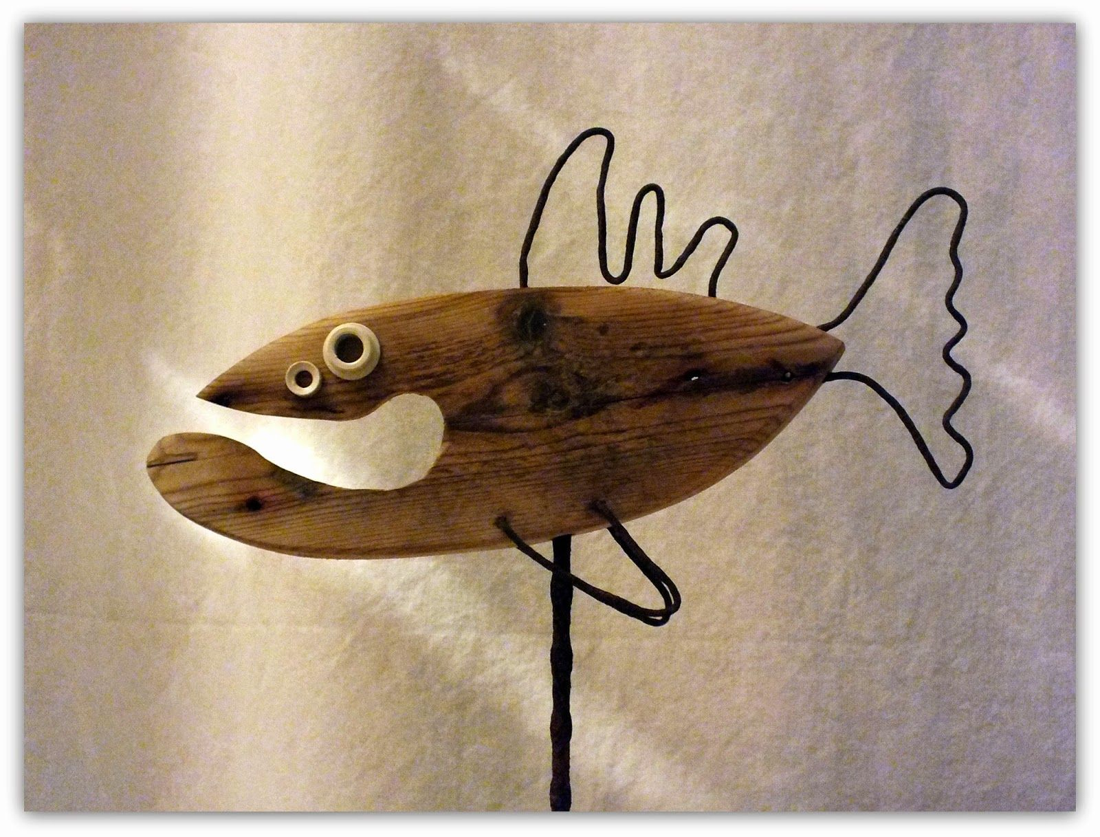 Poisson bois flotté | bois flotté | Pinterest | Driftwood, Driftwood ...