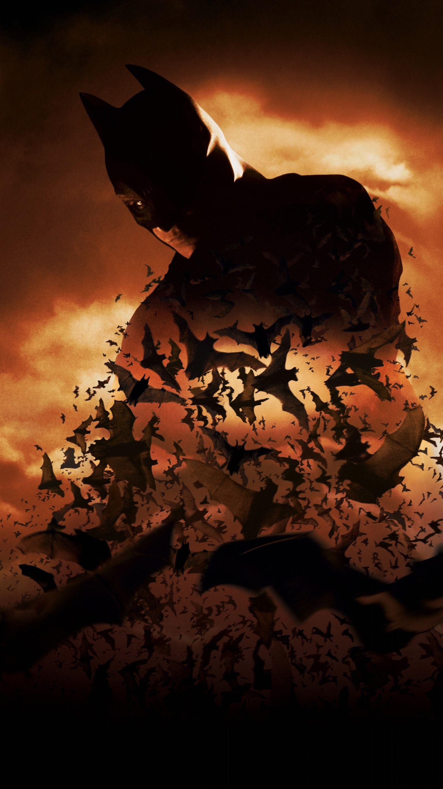 batman begins (2005) phone wallpaper | batman, movie wallpapers and