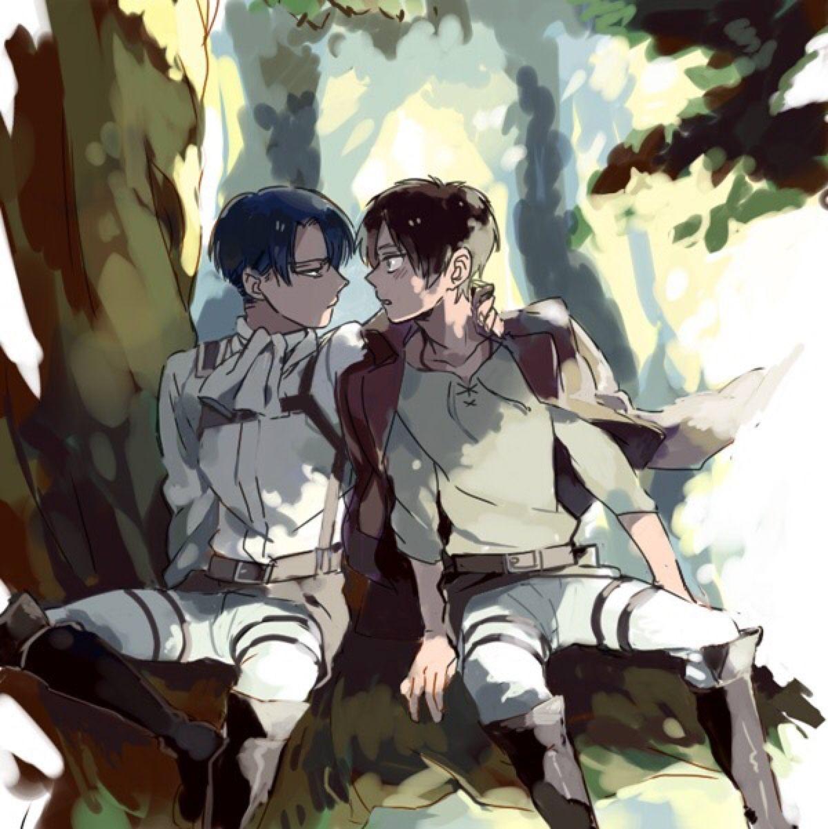 Levi + Eren Attack On Titan #ereri #riren
