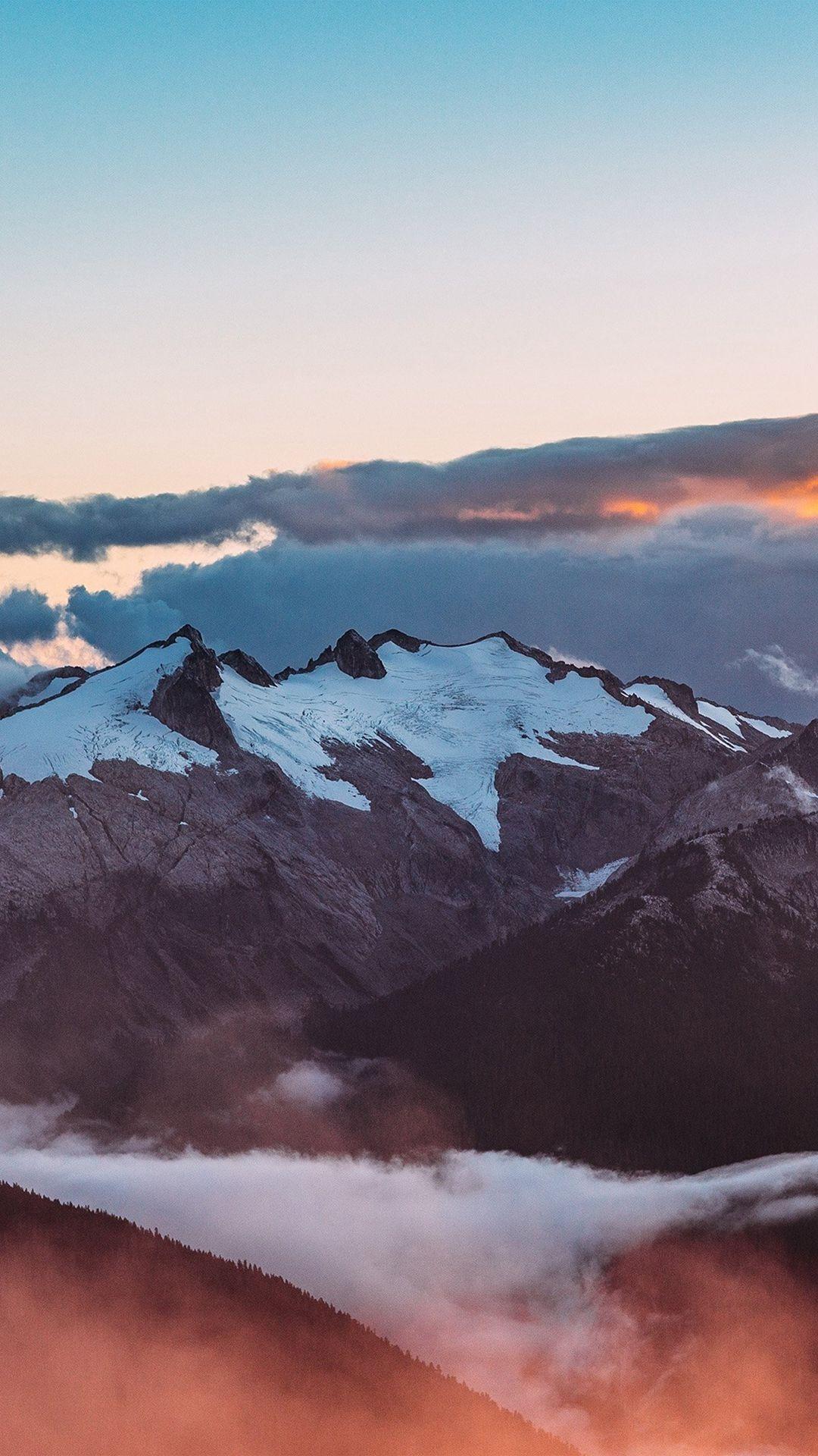 Mountain Sunset Sky Cloud Nature IPhone 6 Wallpaper