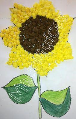 Girassol bastelarbeiten sonnenblumen malen for Kindergottesdienst herbst