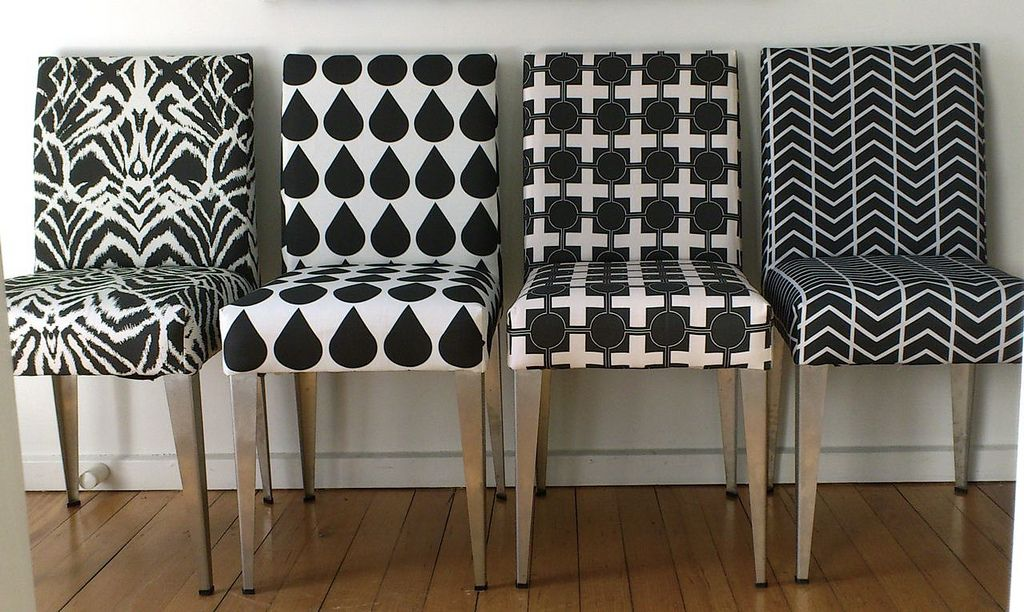 Salvaged Chairs From Wreck To Fabulous Freshly Upholstered In My Fabric Designs Available At Www Spoonflower Profiles Ninaribena