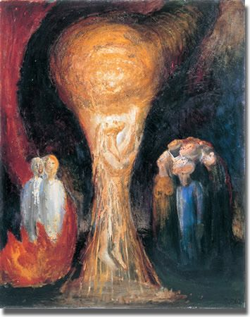 The ascension - Peter Rogers ). Oil 1963 Methodist Collection of Modern Christian Art, Ascension Day, Catholic Doctrine, Late Middle Ages, Blessed Mother, Christian Art, Religious Art, Mystic, Modern Art, Spirituality