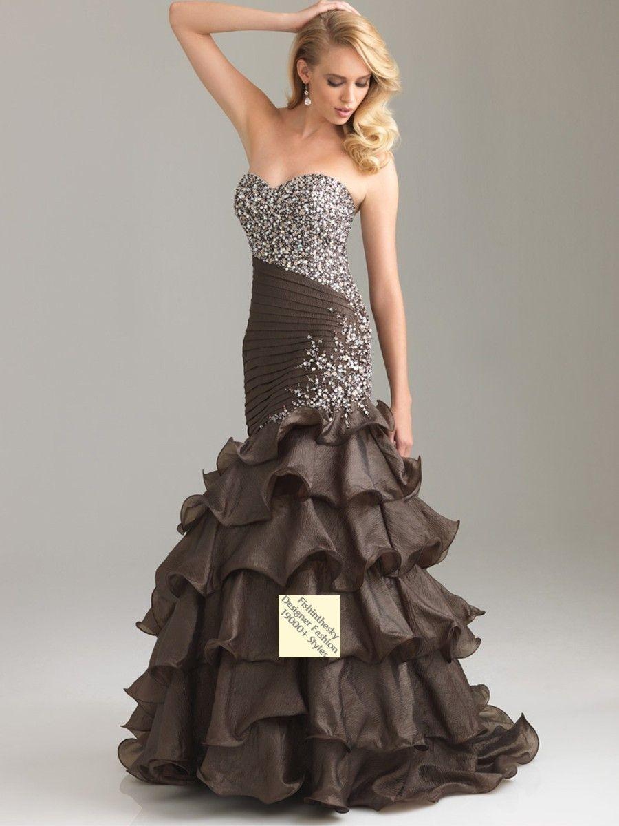 2012 Style Trumpet / Mermaid Sweetheart  Beading  Sleeveless Floor-length Organza Red Prom Dress / Evening Dress