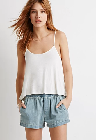 Smocked Waist Denim Shorts | Forever 21 | #f21denim #lyoness