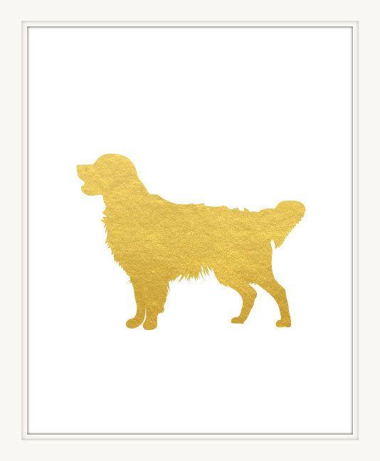 Golden Retriever Art Print 8x10. Pet Printable. Dog Wall Art Decor ...
