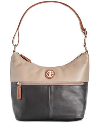 93f7b972c6 Giani Bernini Nappa Leather Bucket Colorblock Hobo