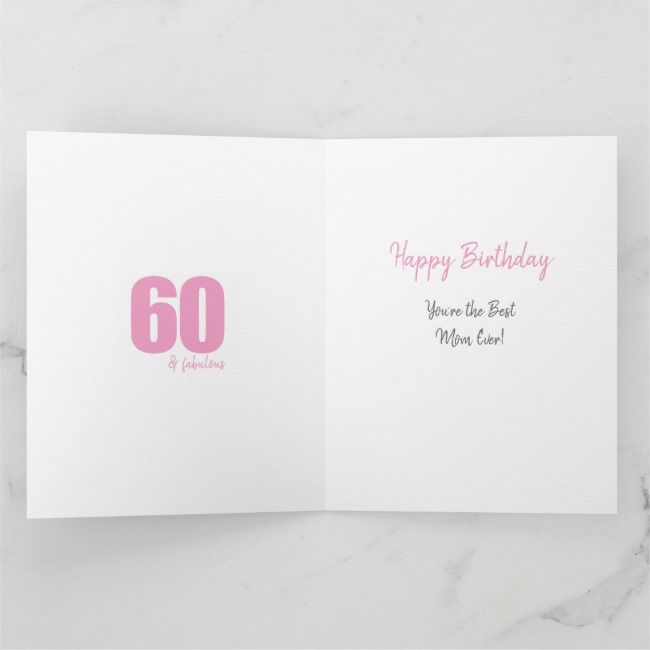 Mom Number 60 Photo Collage Big 60th Birthday Card | Zazzle.com #moms50thbirthday