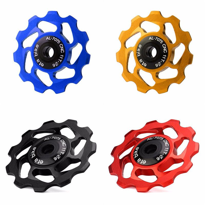 Derailleur Ceramic Bearing 8-17T Rear Pulley Jockey Wheel Road Bike Guide Roller