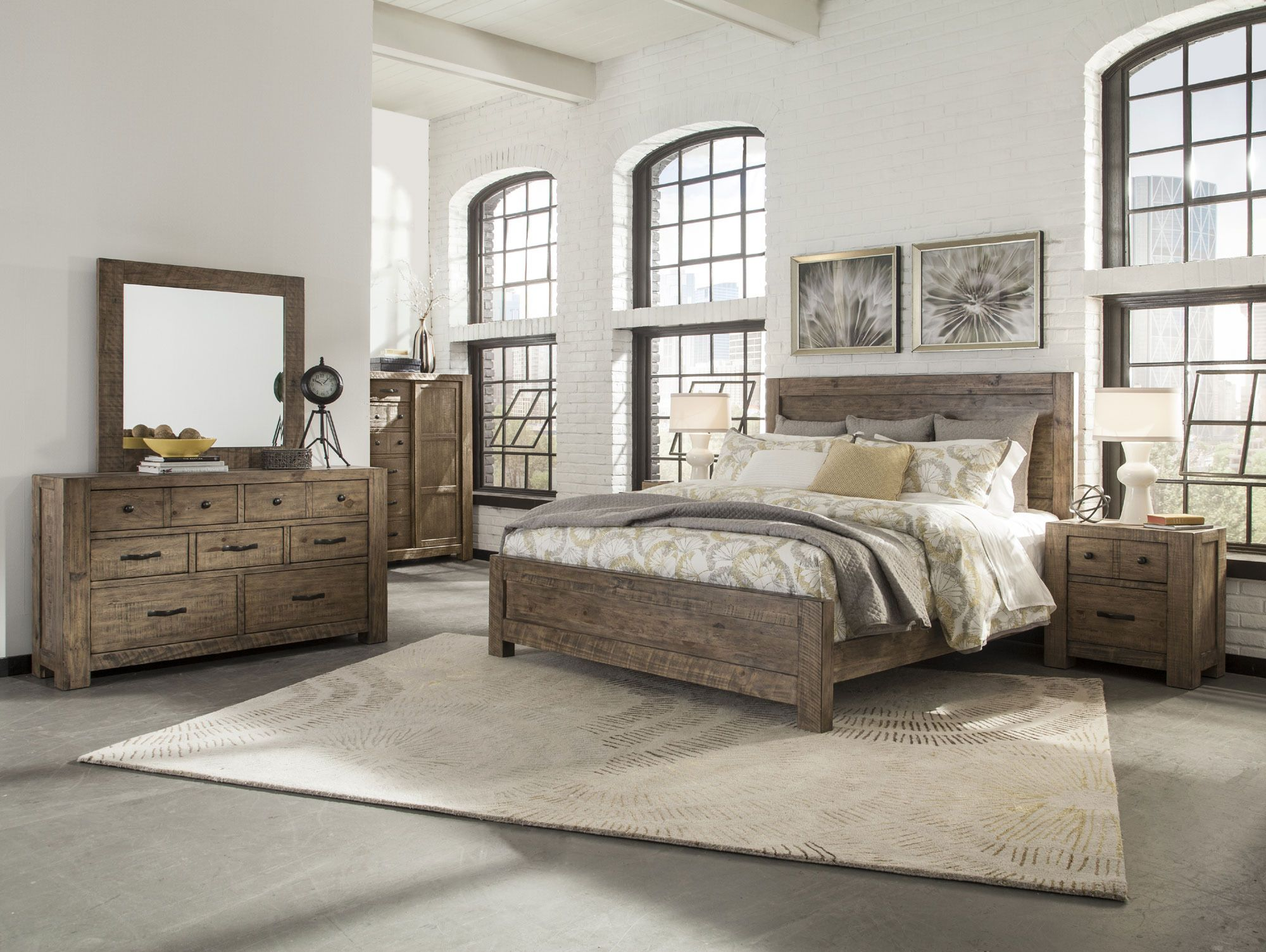 Griffith Pine Panel Bedroom Set Magnussen