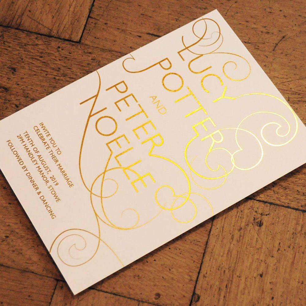 If you want seriously glamorous wedding invitations