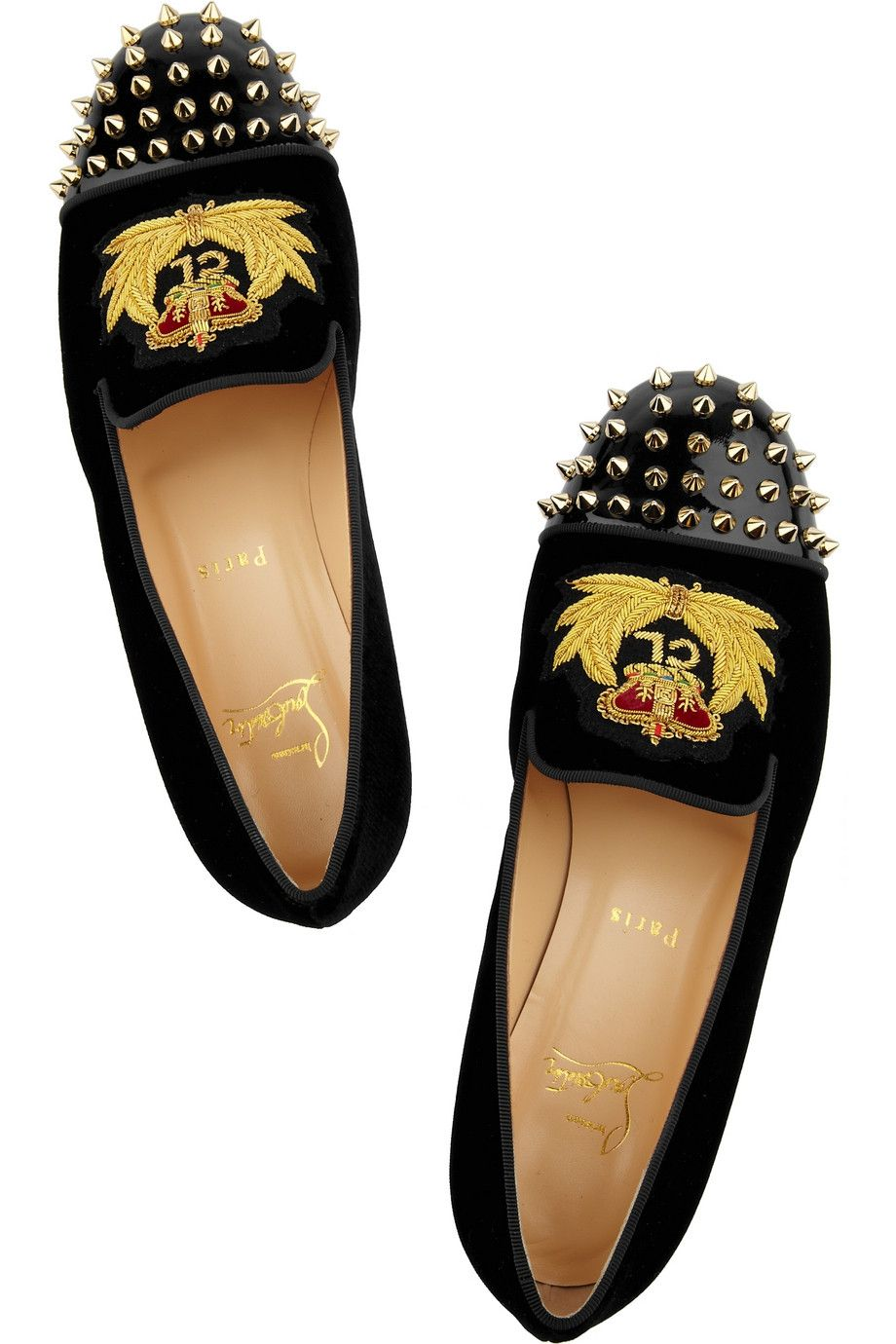 CHRISTIAN LOUBOUTIN Mocasines granate