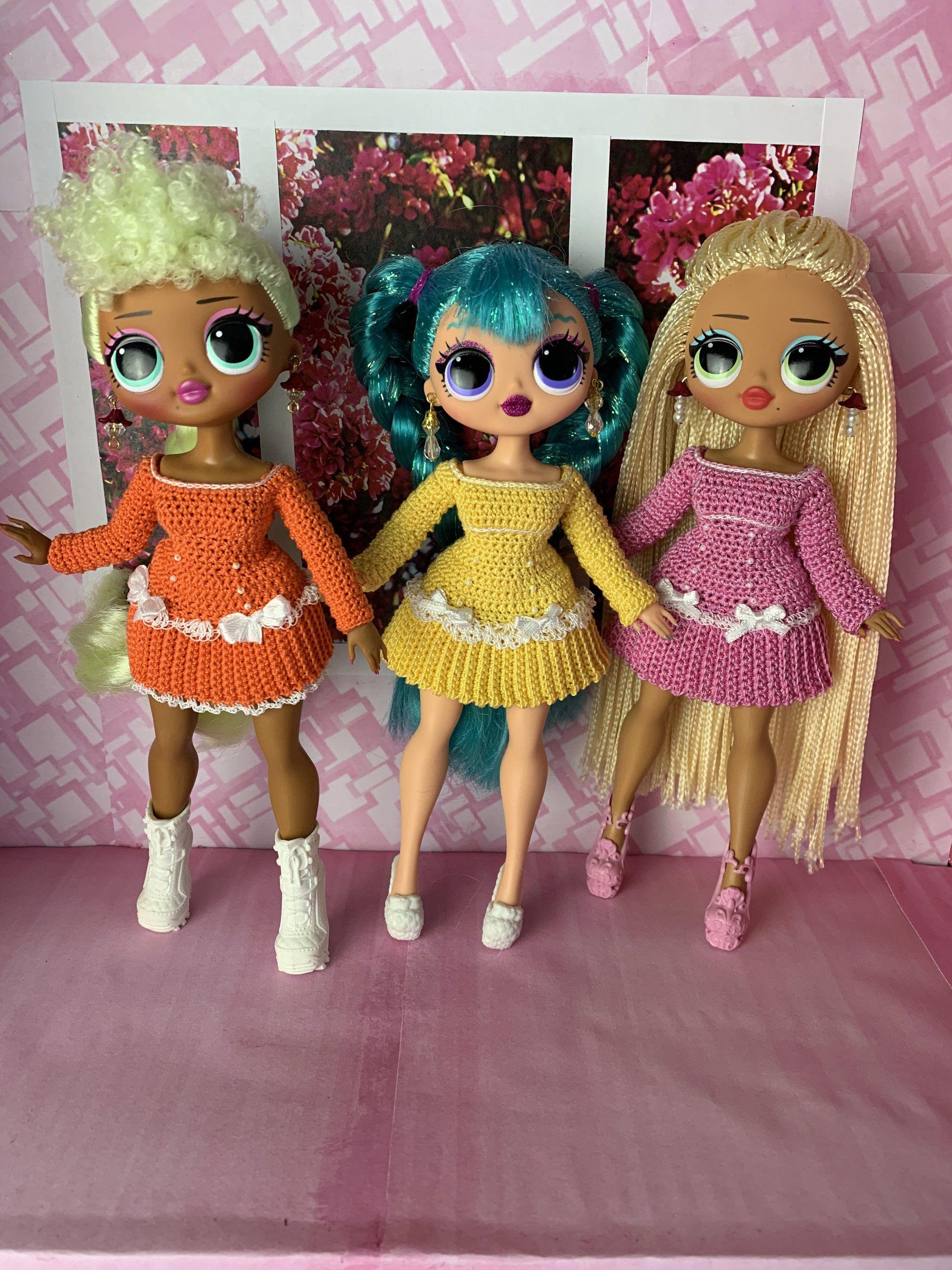 Custom order in 2020 lol dolls barbie dolls crochet dress