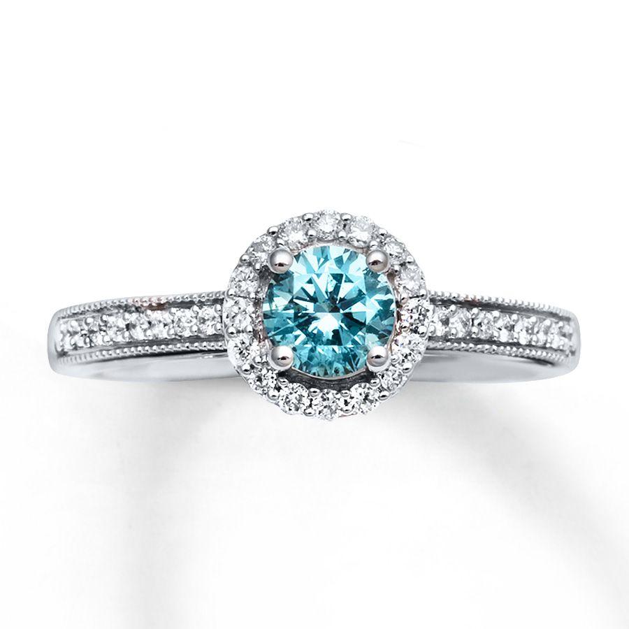 natural blue diamond engagement rings wwwimgkidcom