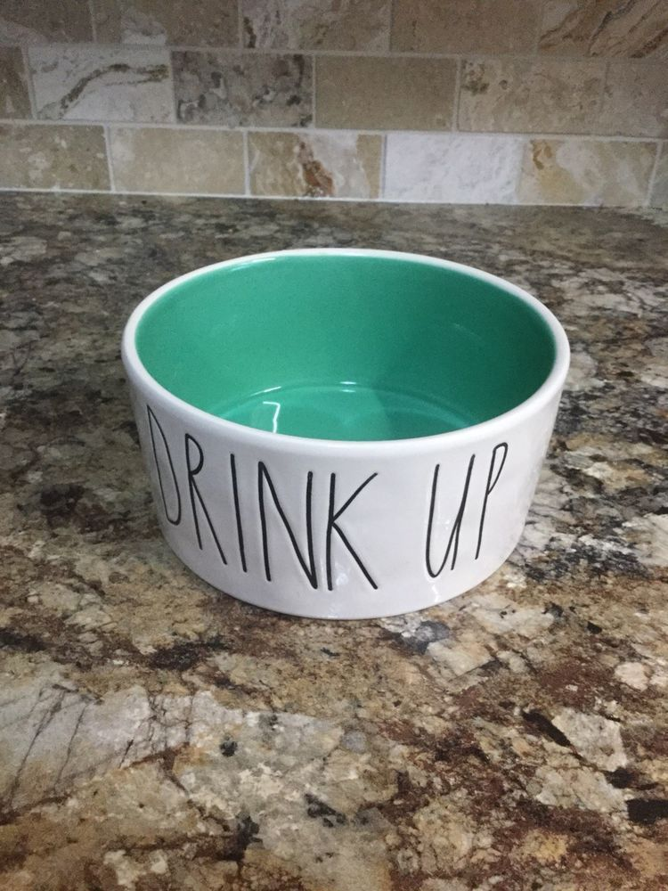 Dishes, Feeders & Fountains New Rae Dunn Large Letter Pet Cat Dog Dish Food Water Purr Teal Bowl