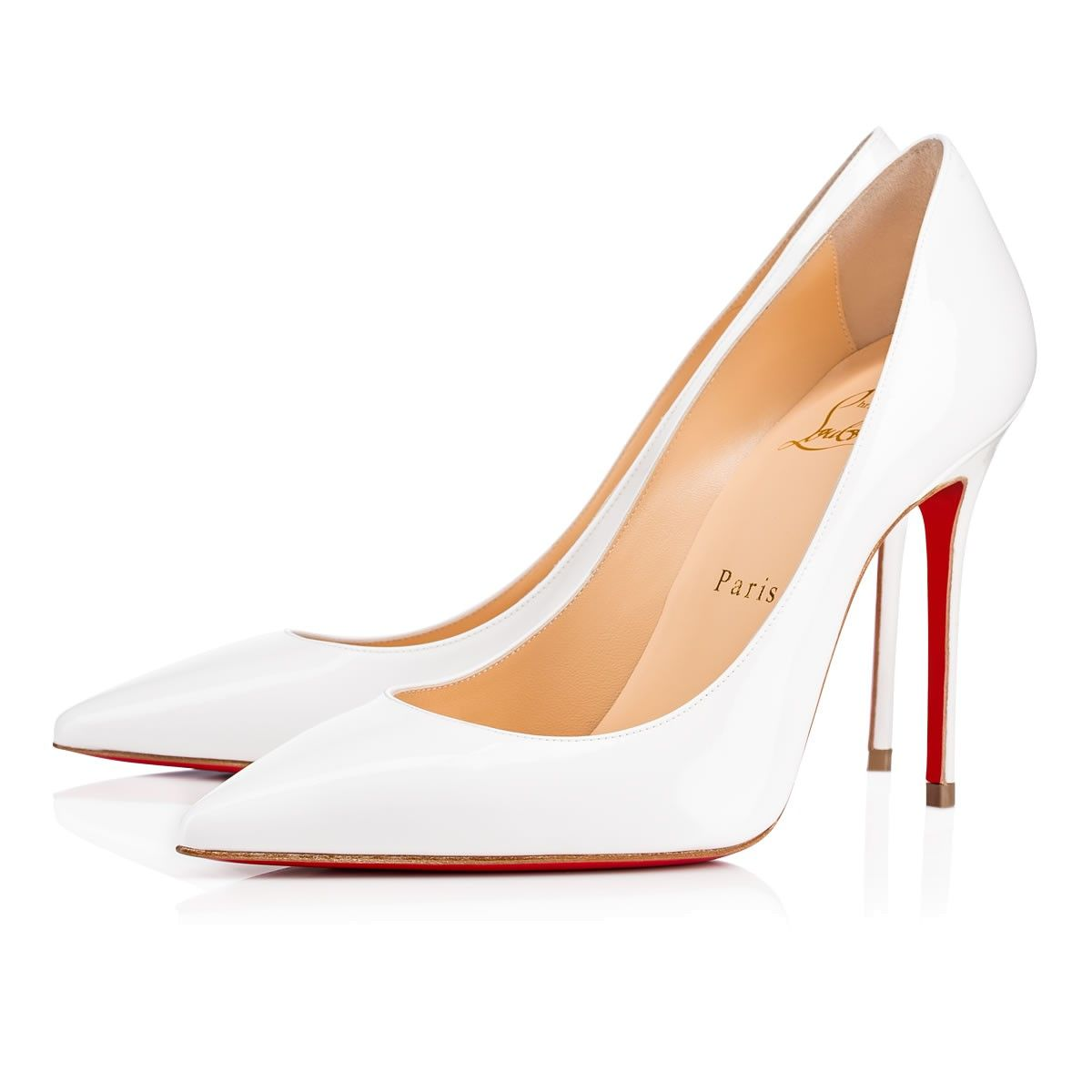 41322cdbda91 CHRISTIAN LOUBOUTIN Decollete 554 100mm Latte Patent Leather.   christianlouboutin  shoes