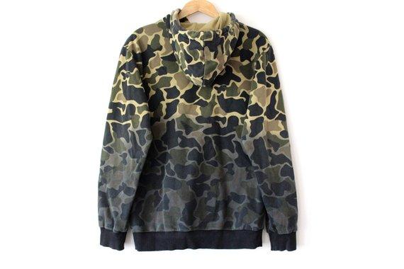 check out ebc27 60856 Camo ADIDAS Sweatshirt, Vintage Adidas Hoodie, Camouflage ...