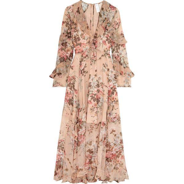 Zimmermann Aerial ruffled floral-print silk-georgette dress (12.109 ...