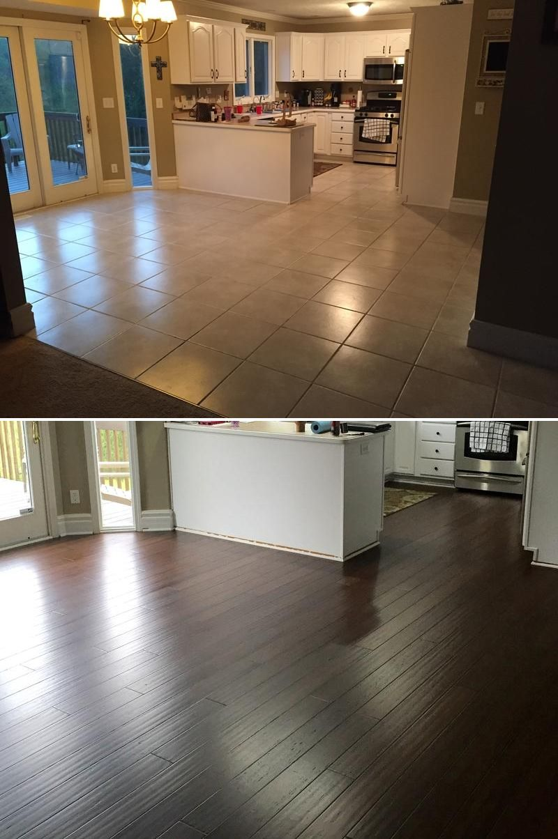 Replaced Tile And Old Laminate Flooring On The Entire First Floor Of