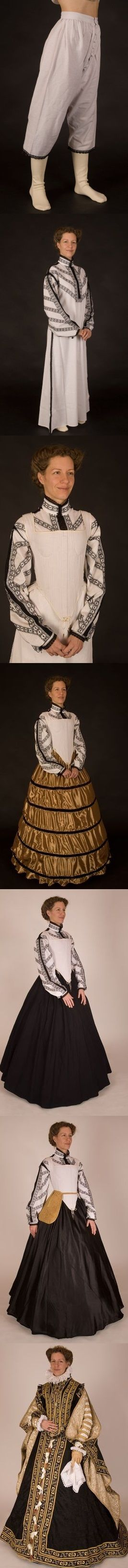 Really lovely reproduction of the Anne of Austria dress as well as a nice visual of all the layers that go into a court gown.