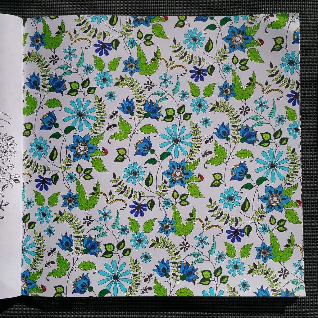 Coloriage issu du livre jardin secret art th rapie - Mon jardin secret coloriage ...