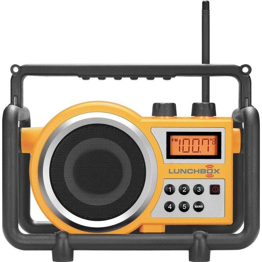 Compact Am Fm Rugged Job Jobsite Radio Receiver Music Player Outdoor Rain Dust Sangean