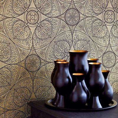 Explore Designer Wallpaper Deco Wall And More Orientalisches Mandala Gold Eijffinger Yasmin Orient Tapete