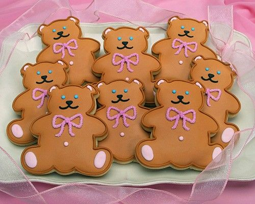 Cookie Gallery - Cuddly Bear Cookies with Pink Bow, $24.99 (http://www.cookiegallery.com/cuddly-bear-cookies-with-pink-bow-8/)