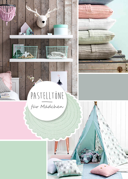 Kidsdepot kinderzimmer in rosa mint grau bei for Kinderzimmer grau rosa