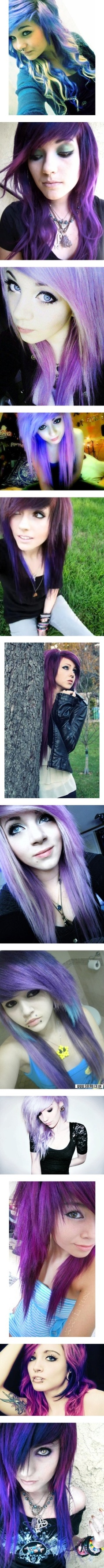 Love love love purple o hair pinterest scene