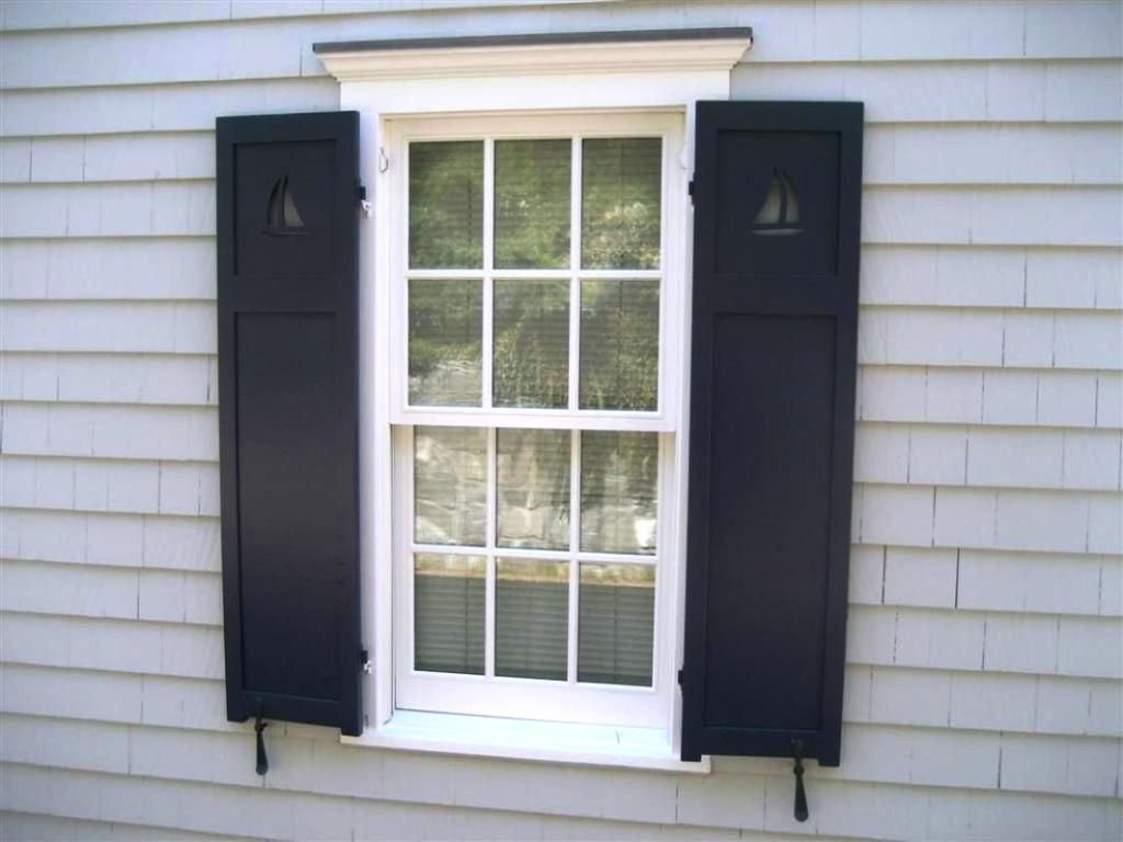Decorative Exterior Louvered Shutters Wood Shutters Exterior